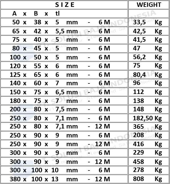 tabel besi unp